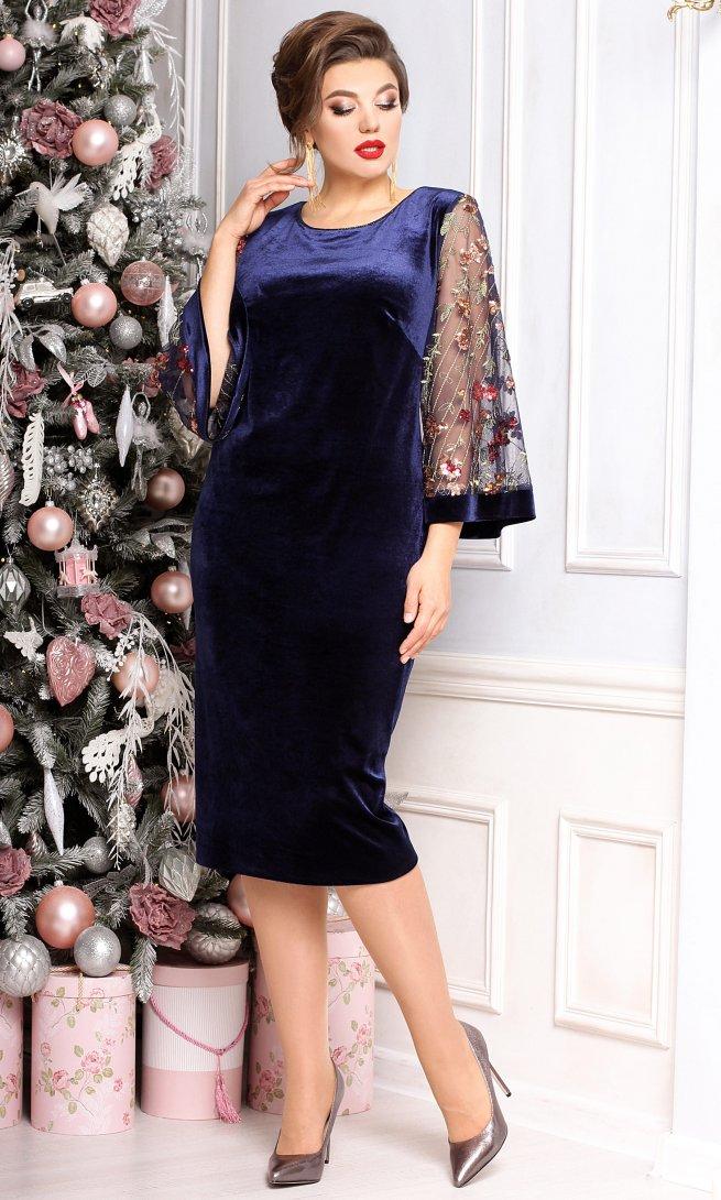 Платье Мода Юрс 2383 синее