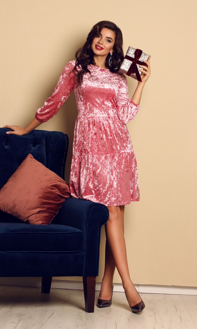 Платье Мода Юрс 2456 розовое