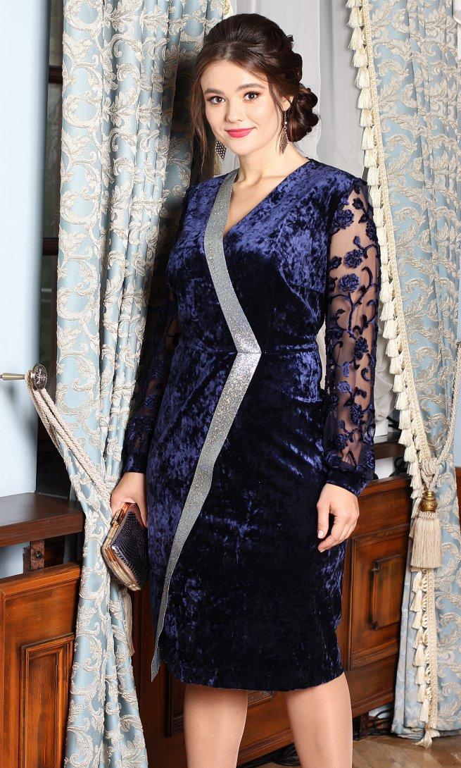 Платье Мода Юрс 2526 синее