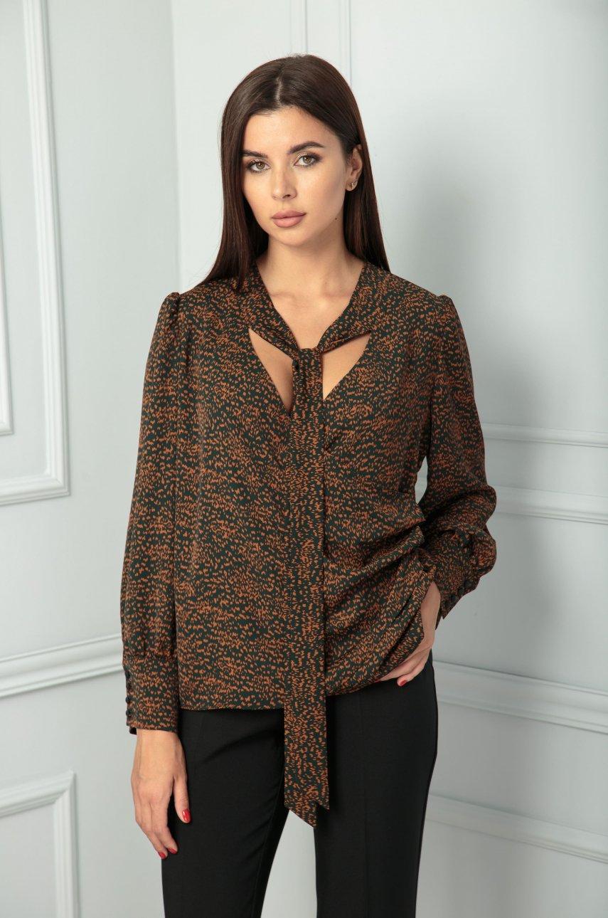 Блуза SandyNa 13812 дизайн/черный