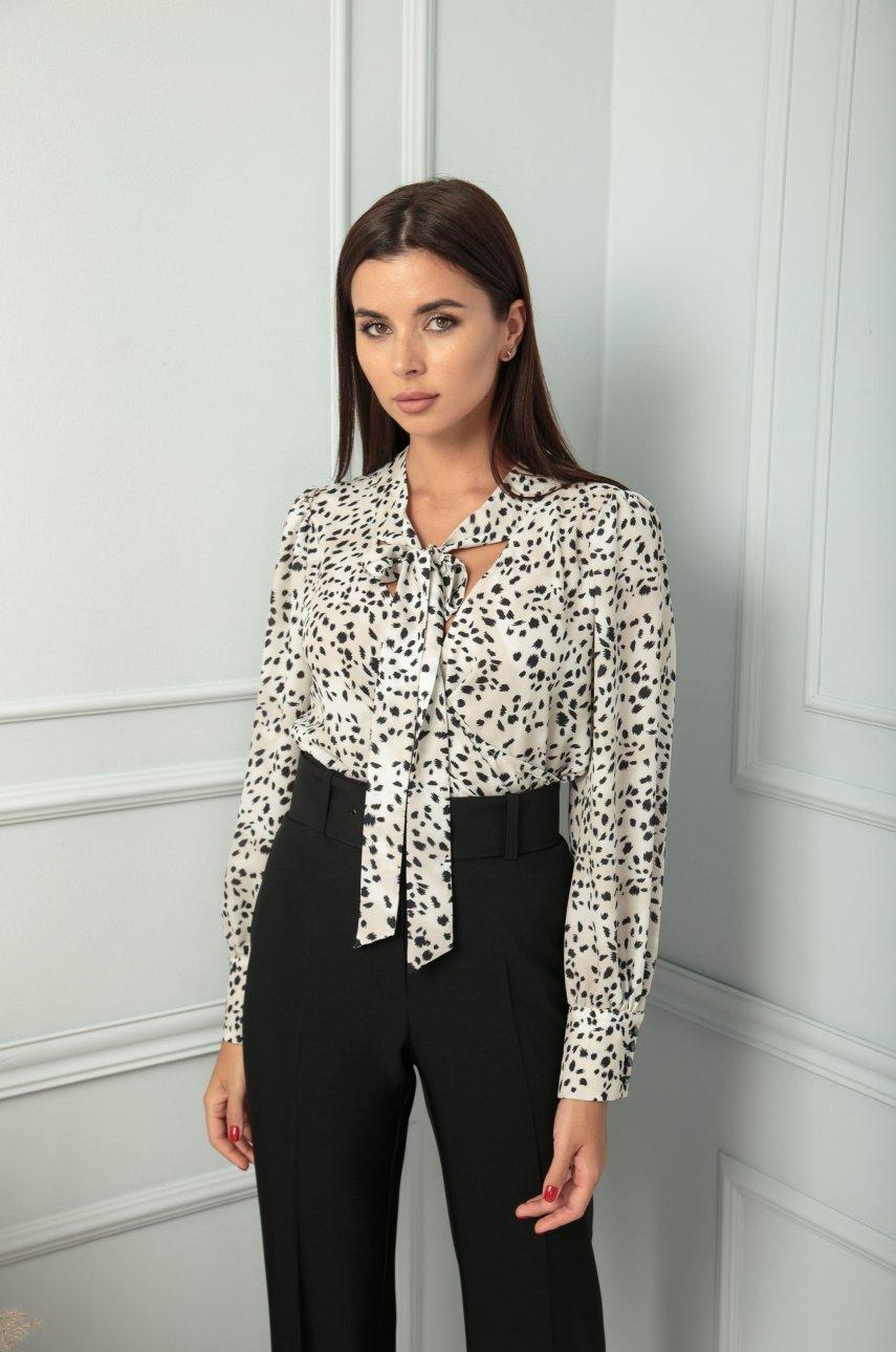 Блуза SandyNa 13812 дизайн/молочный