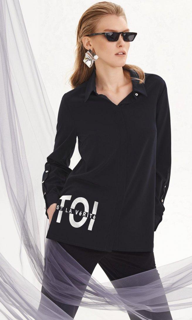 Блуза Di-Lia Fashion 0145-1 черная