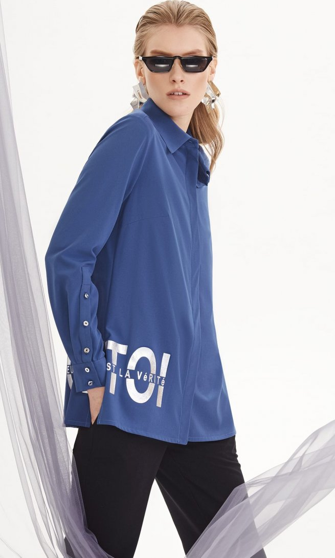 Блуза Di-Lia Fashion 0145-1 синяя