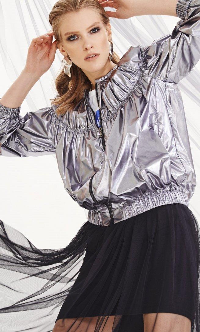 Куртка Di-Lia Fashion 0193 серебро