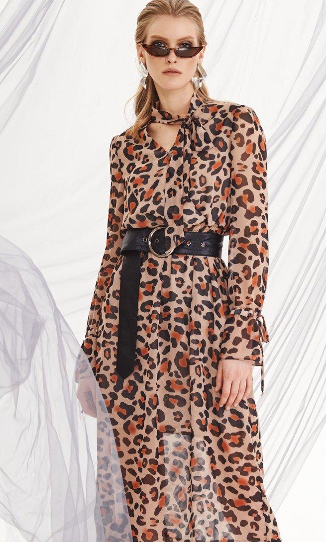Платье Di-Lia Fashion 0208 принт леопард