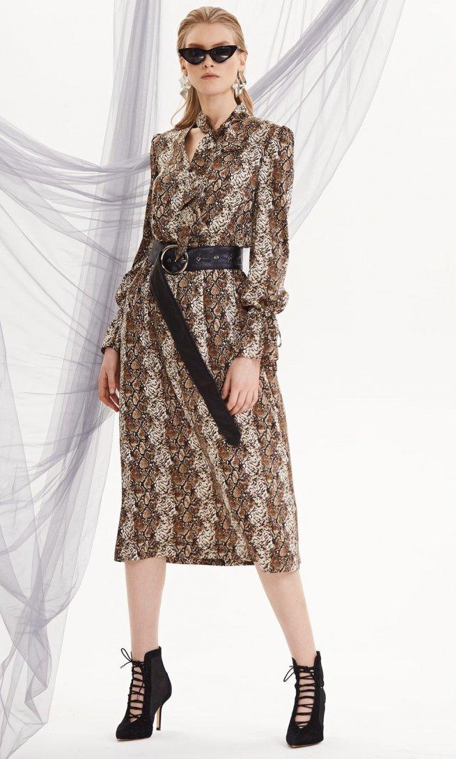 Платье Di-Lia Fashion 0208 принт змея