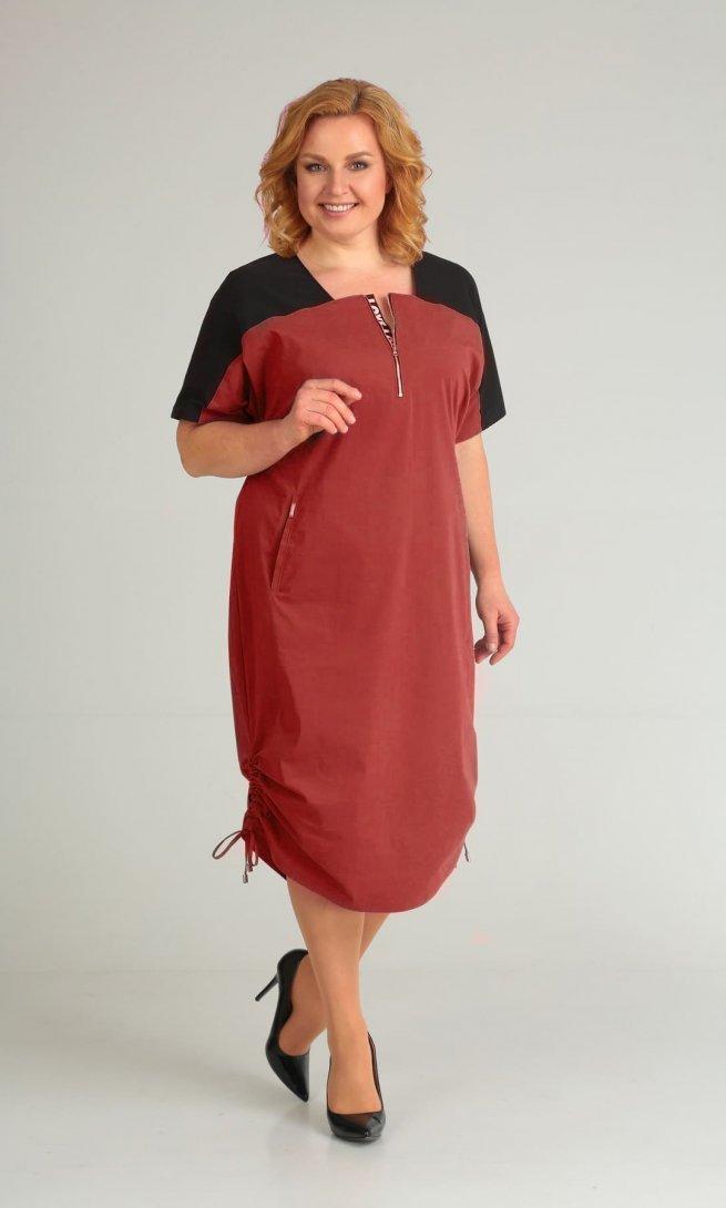 Платье Diamant 1430 красное
