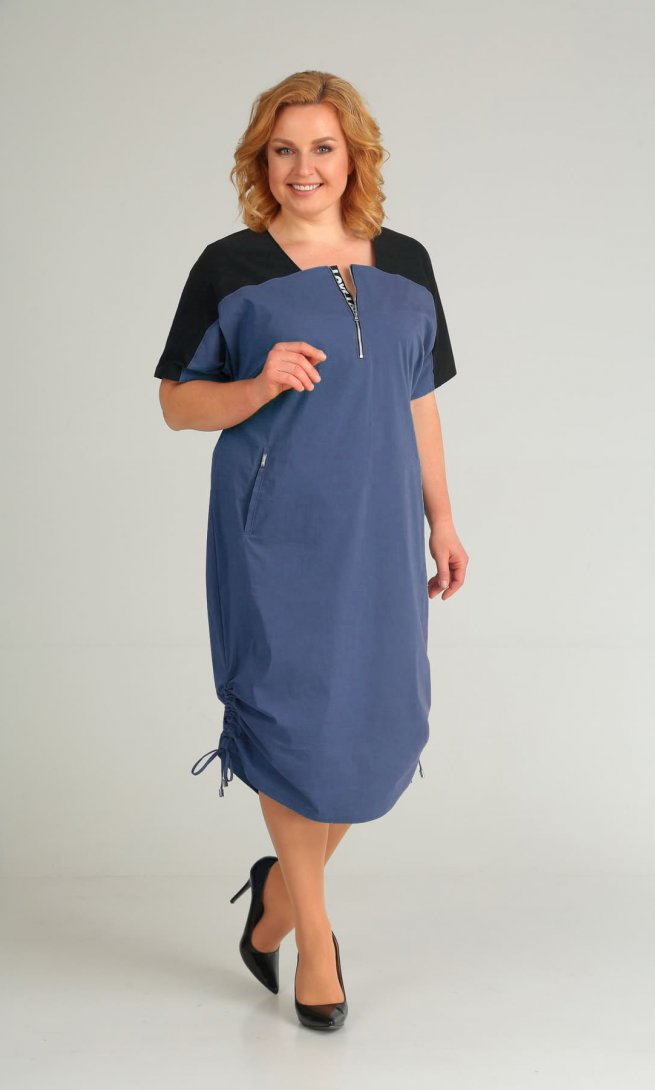 Платье Diamant 1430 синее