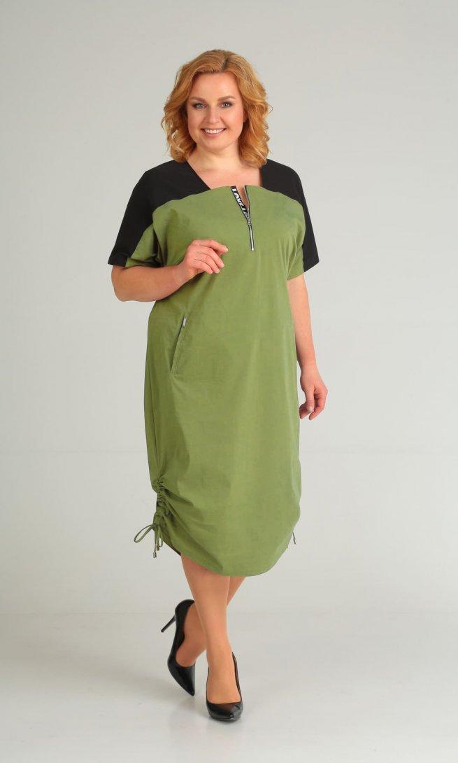 Платье Diamant 1430 зеленое