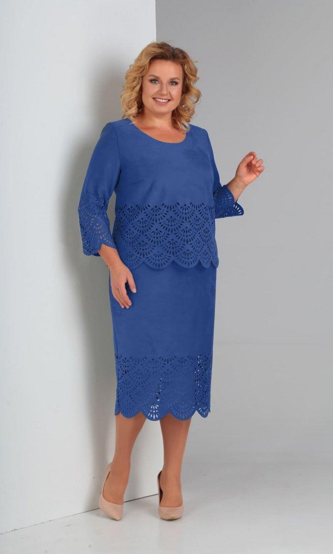 Платье Diamant 1469 голубое
