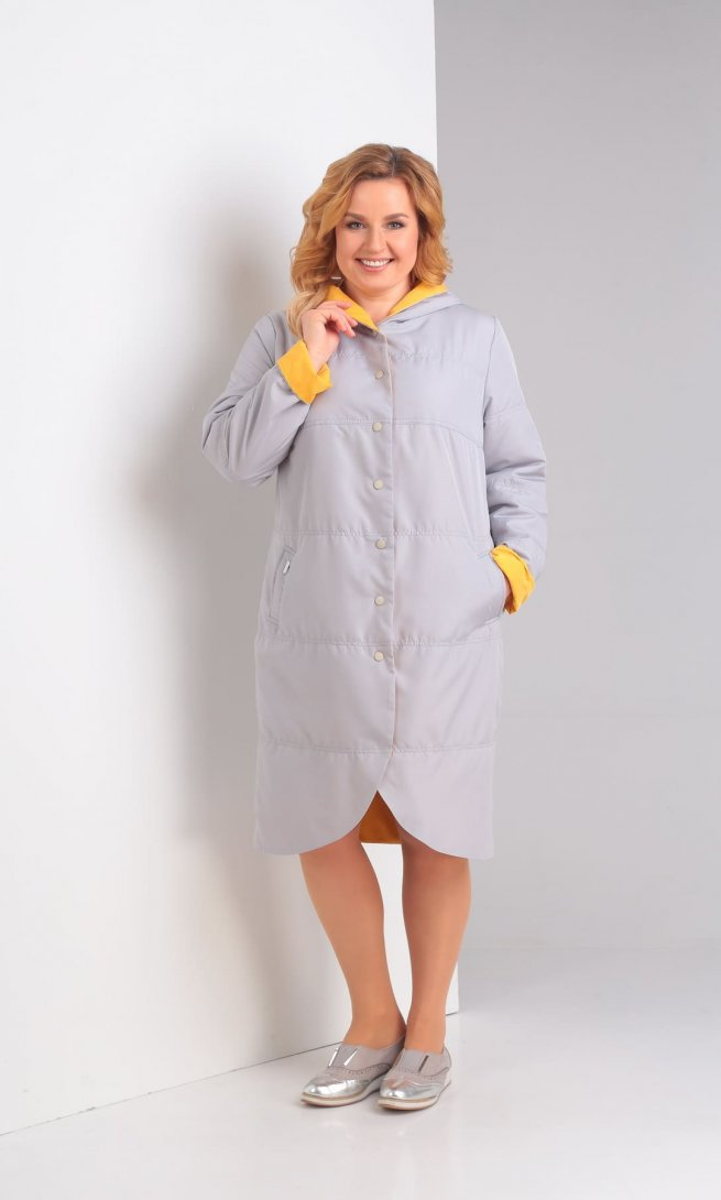 Куртка Diamant 1328 серо-желтая