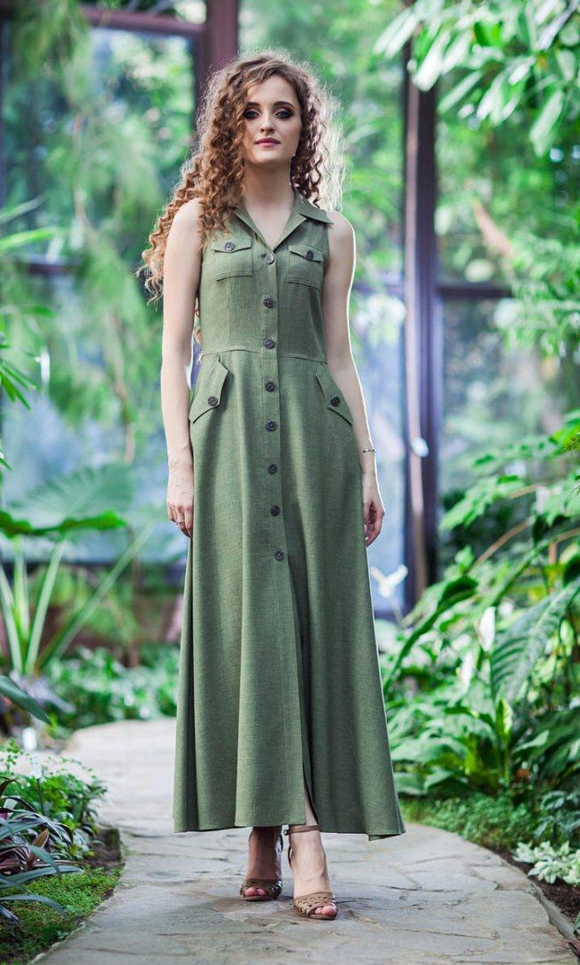 Платье EuroModa 100 хаки