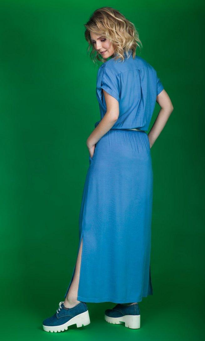 Платье EuroModa 107 голубое
