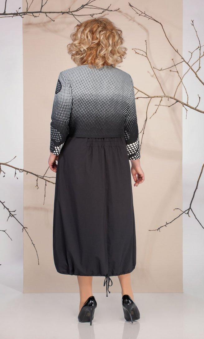Платье Ivelta 1663 черное/серое
