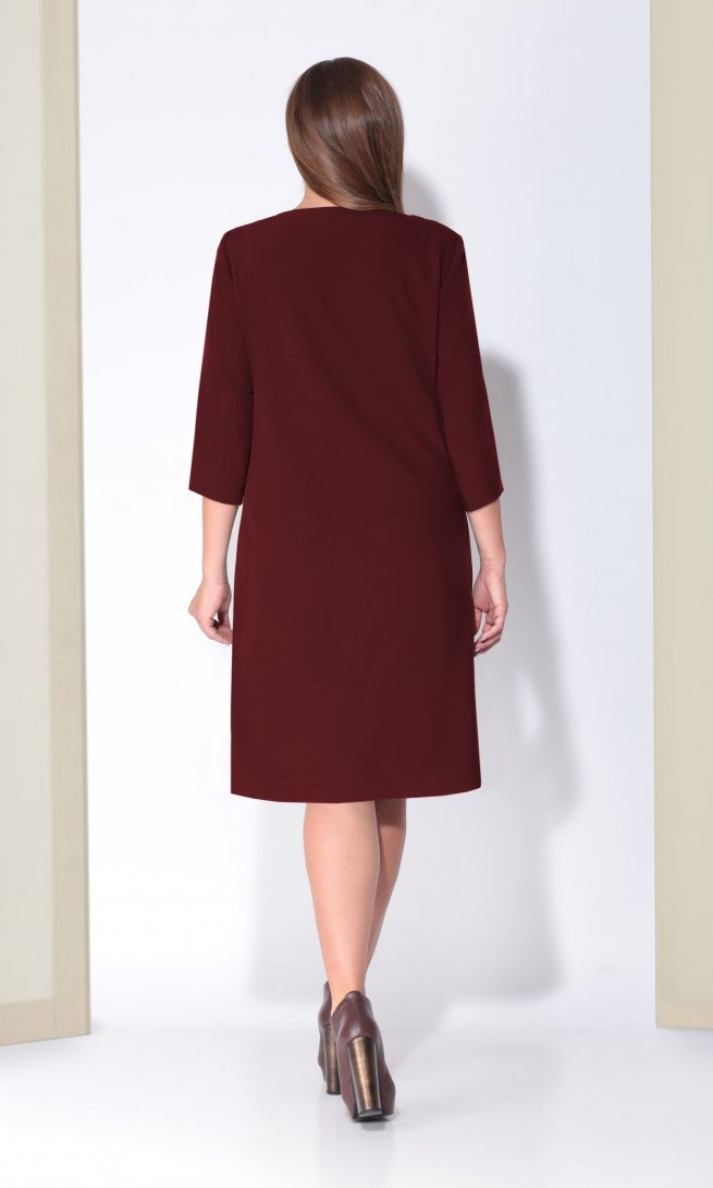 Платье Карина Делюкс 184 спелая вишня