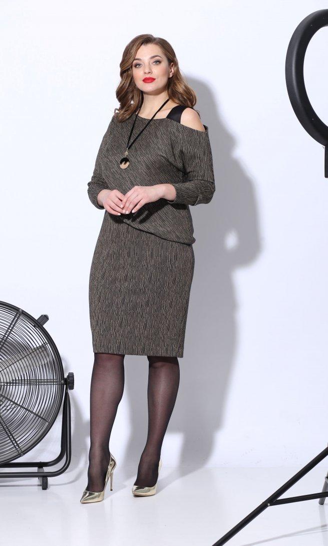 Платье Карина Делюкс 241/1 охра