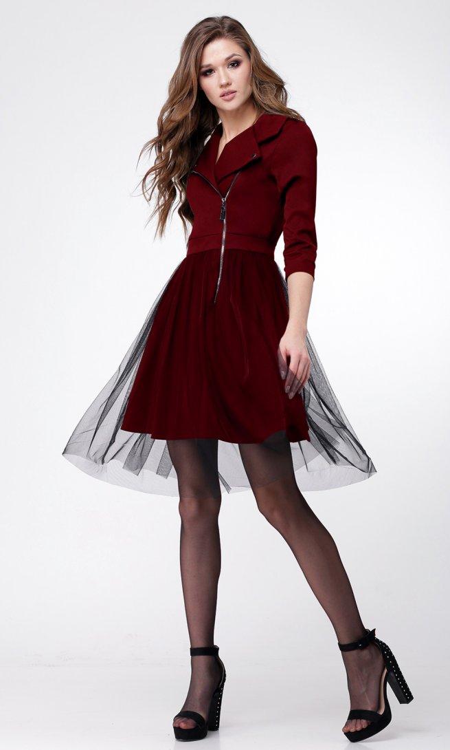 Платье Ladis Line 1043-бордо