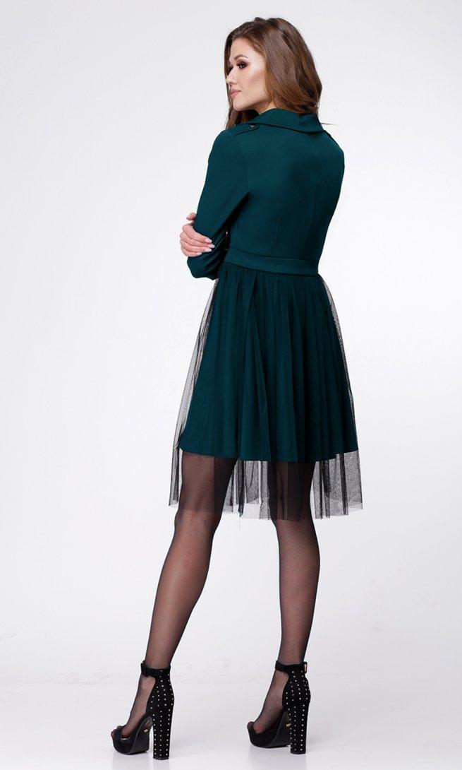 Платье Ladis Line 1043-морская_волна