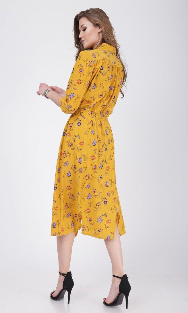 Платье Ladis Line 1048 желтое
