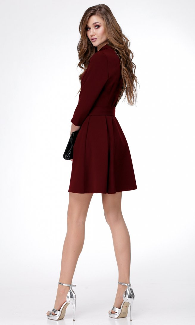 Платье Ladis Line 1052 бордо