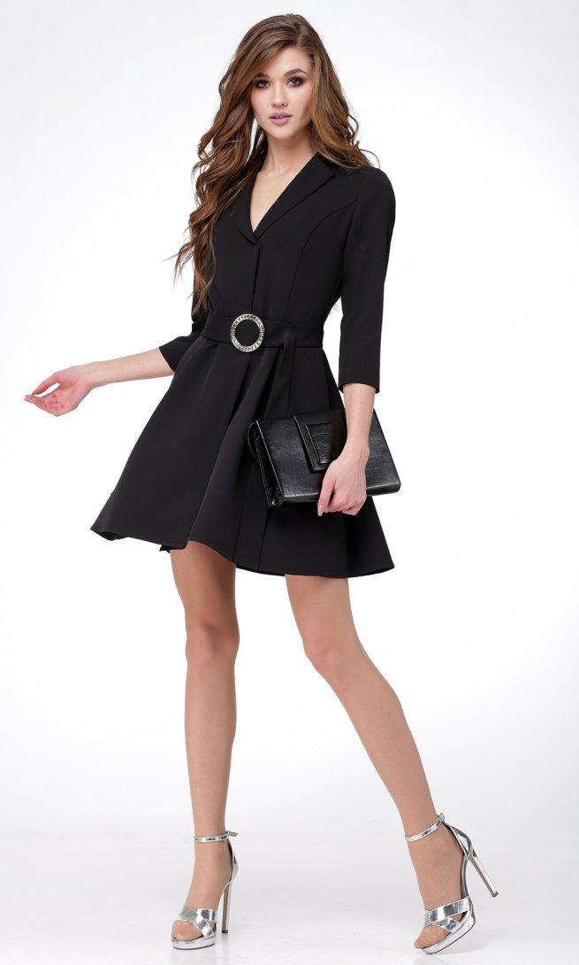Платье Ladis Line 1052-черное
