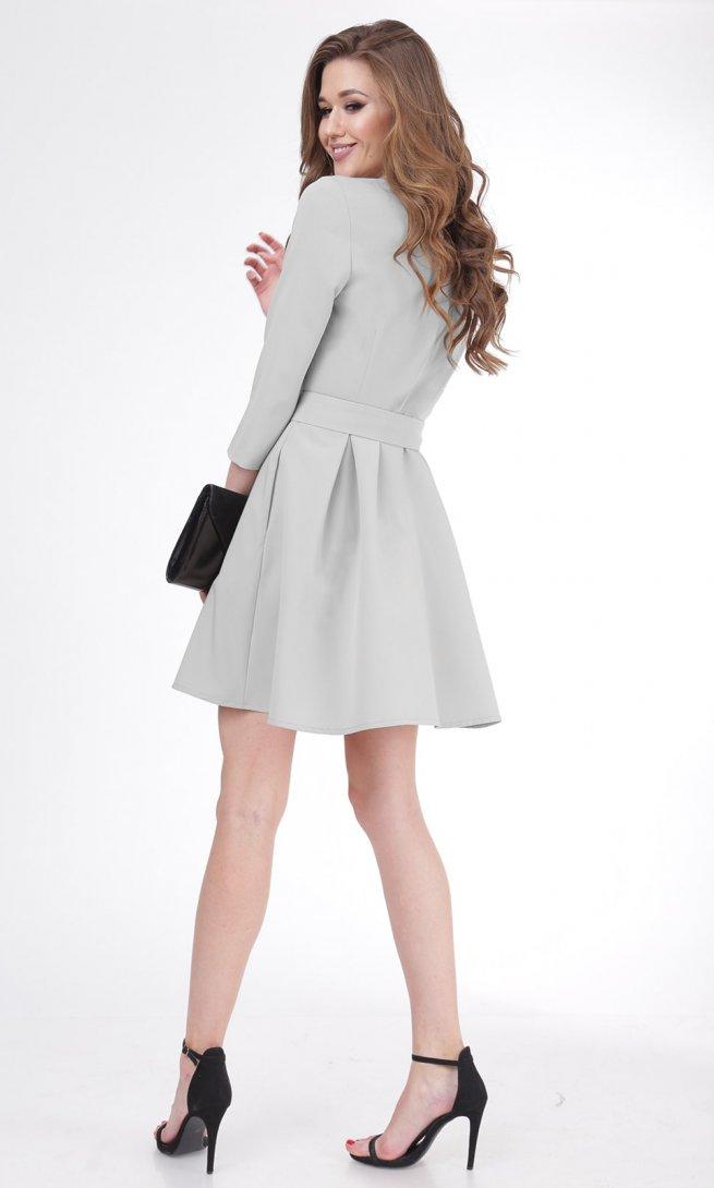 Платье Ladis Line 1052 серое