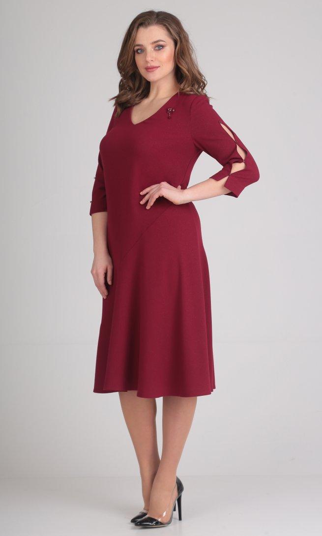 Платье Ladis Line 1056 бордо