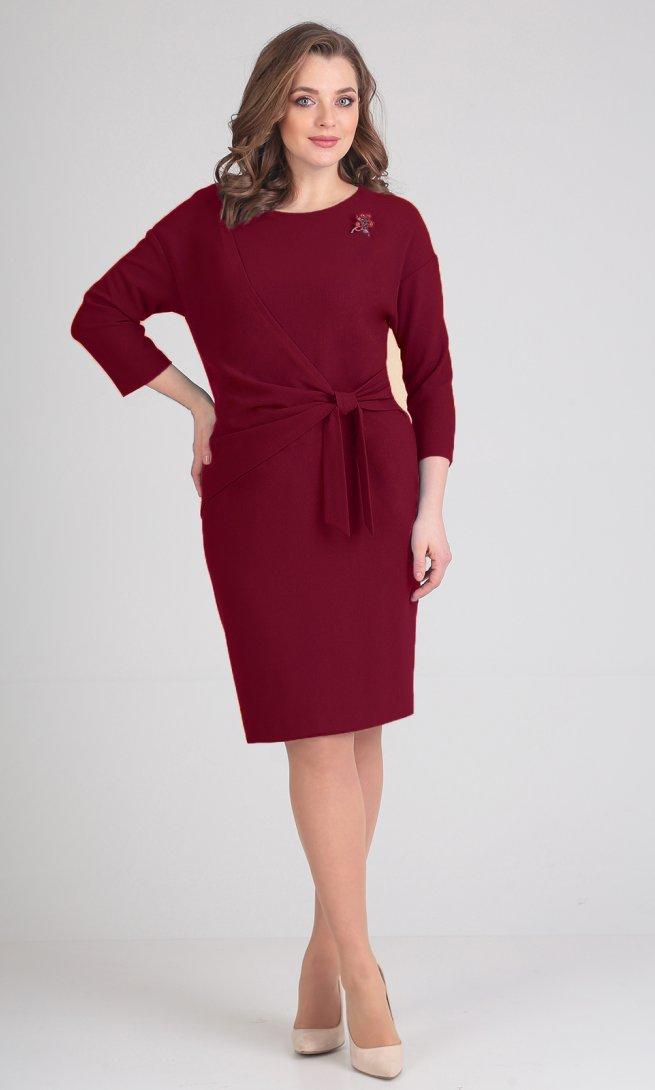 Платье Ladis Line 1059 бордо
