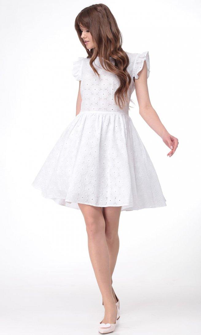 Платье Ladis Line 1093 белое