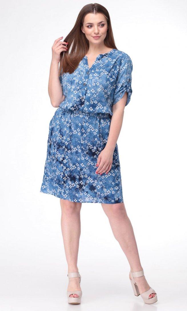 Платье Ladis Line 1104 голубое