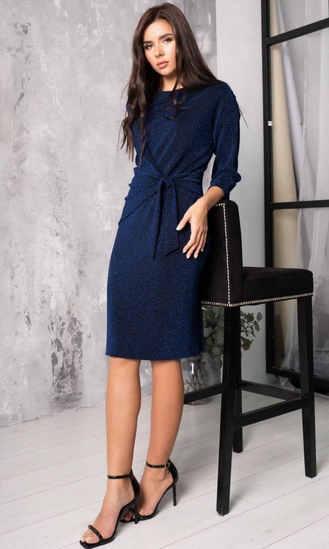 Платье Ladis Line 1163 синее
