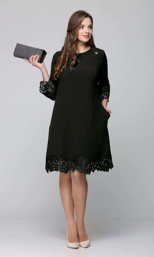Платье Ladis Line 1165 черное