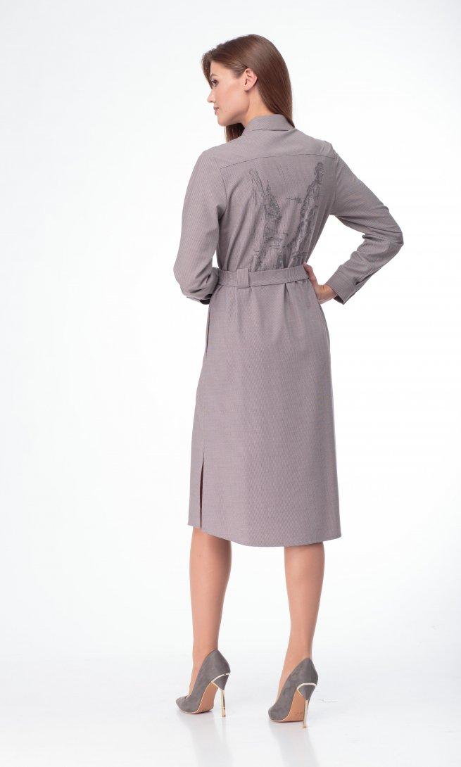 Платье Lady Three Stars 1972 серый/бежевый