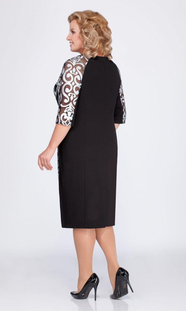 Платье LaKona 1051-1 черное/серебро
