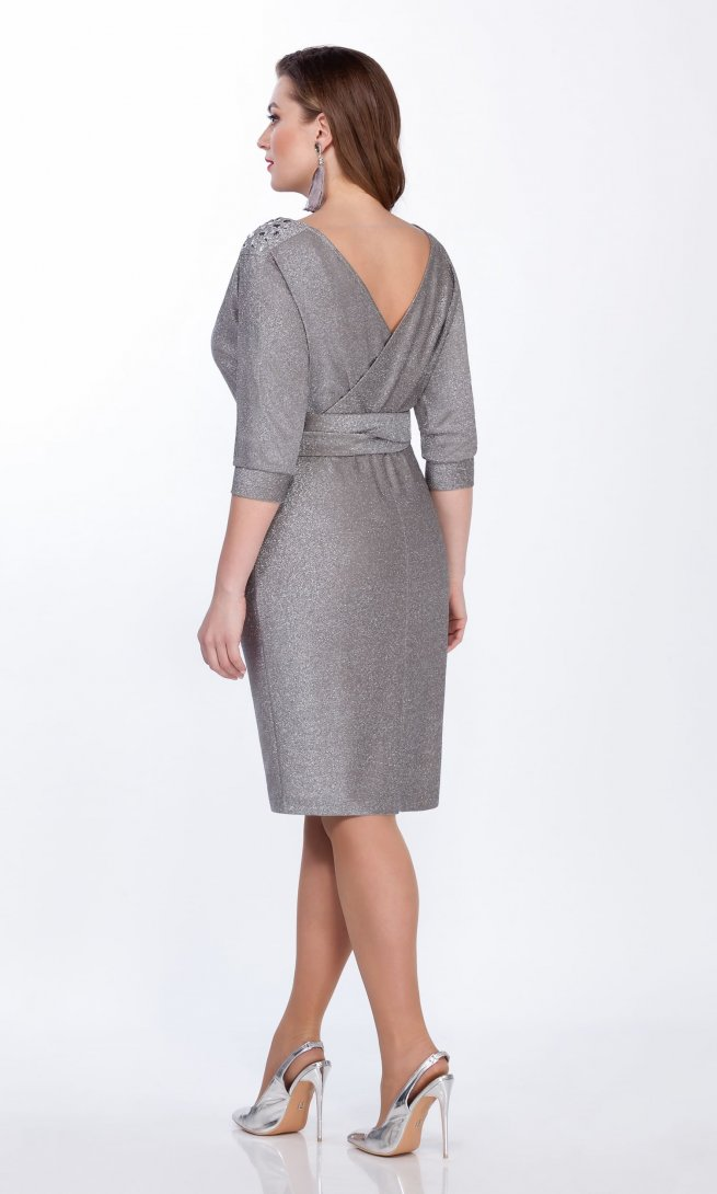 Платье LaKona 1267 серебро