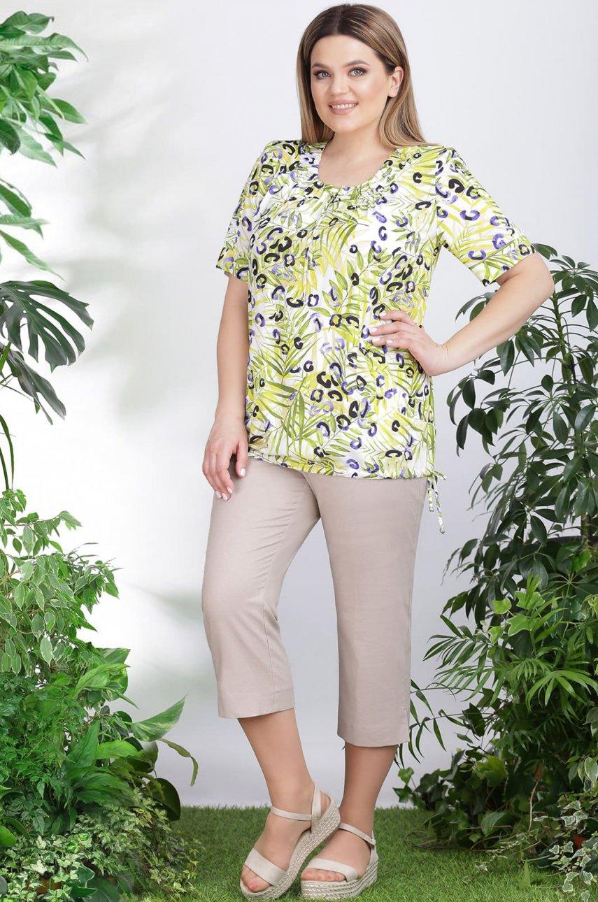 Блуза LeNata 11007 листья
