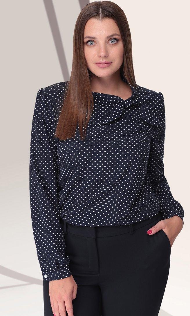 Блуза LeNata 11028 синяя