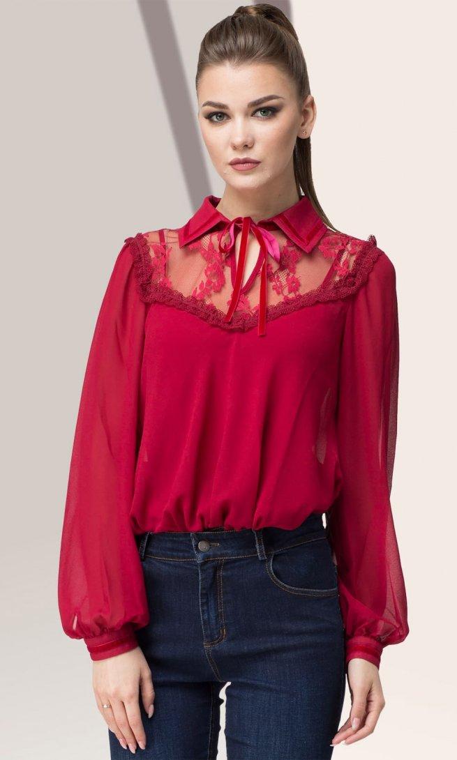 Блуза LeNata 11884 бордо