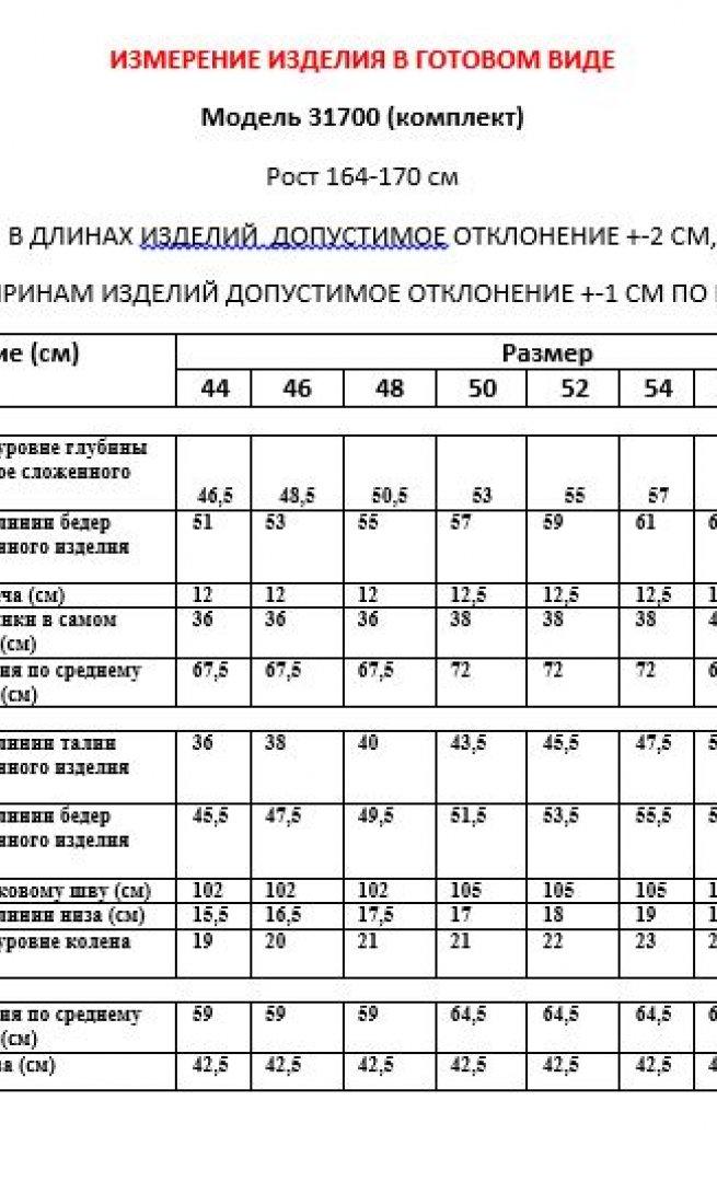Костюм LeNata 31700 бирюза