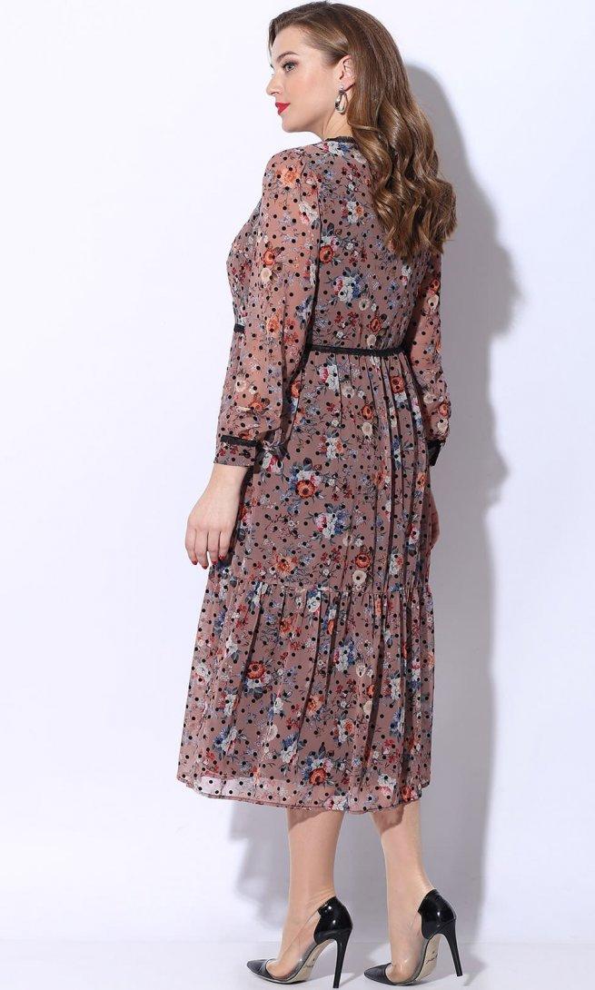 Платье LeNata 11072 розовое
