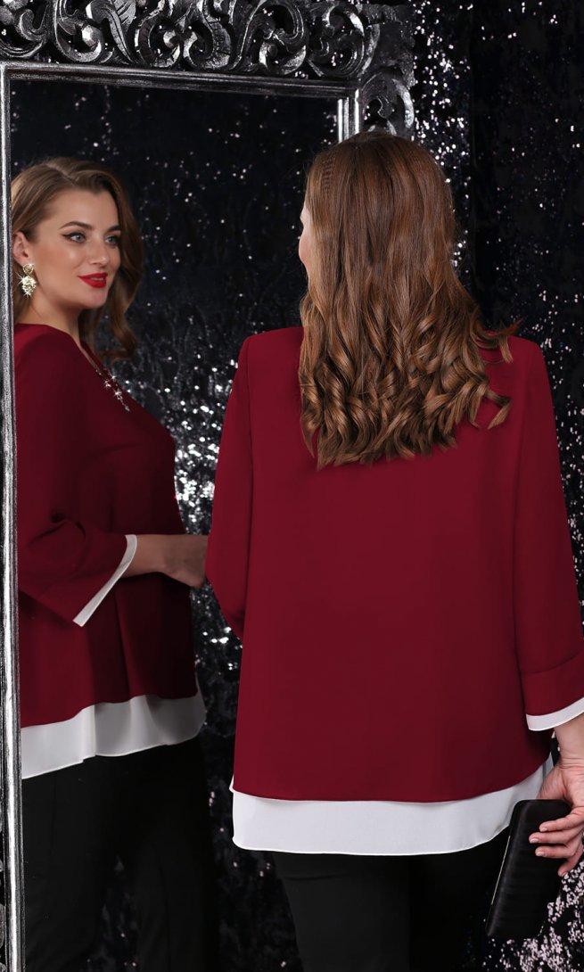 Блуза LeNata 11075 бордо