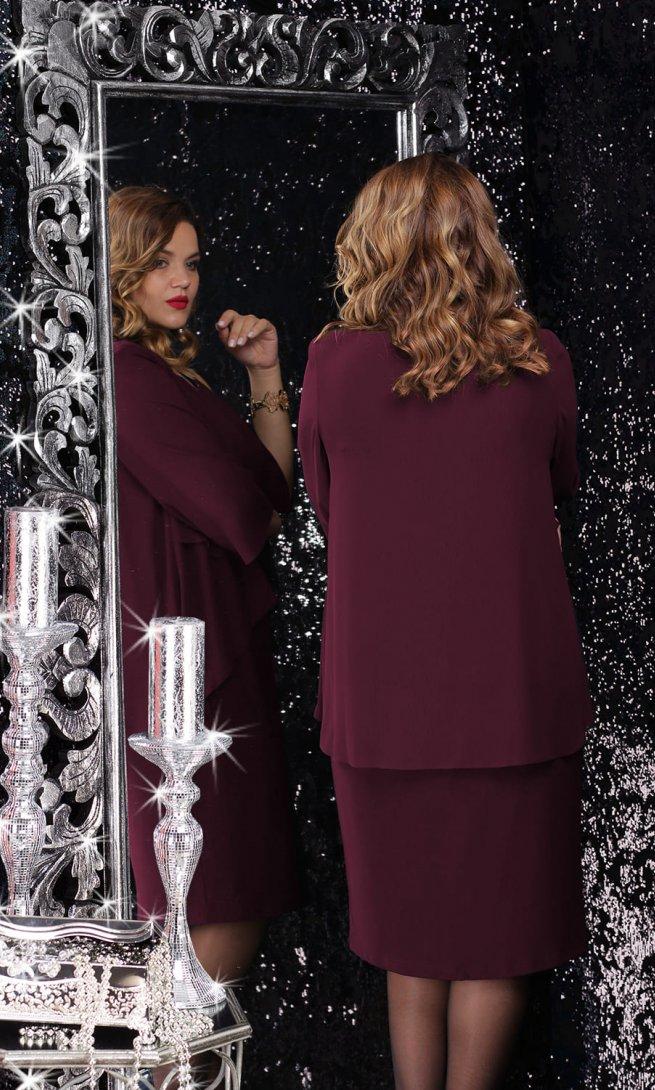 Платье LeNata 12065 спелая вишня