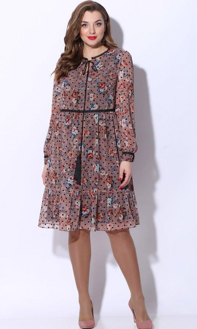 Платье LeNata 12072 розовое