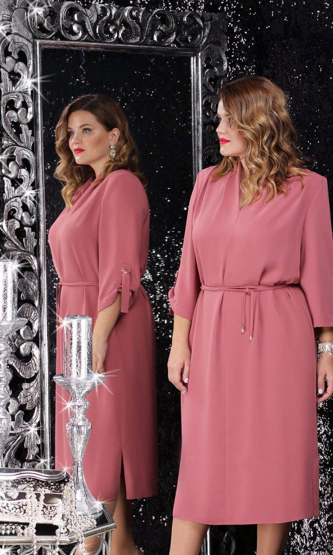 Платье LeNata 11062 розовое