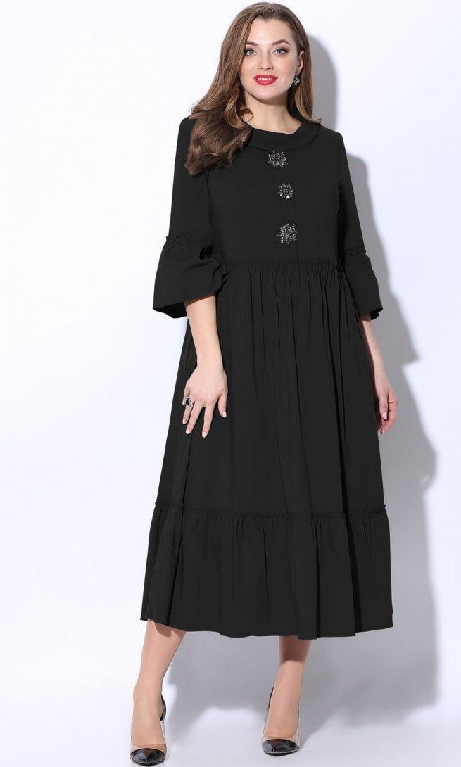 Платье LeNata 11071 черное