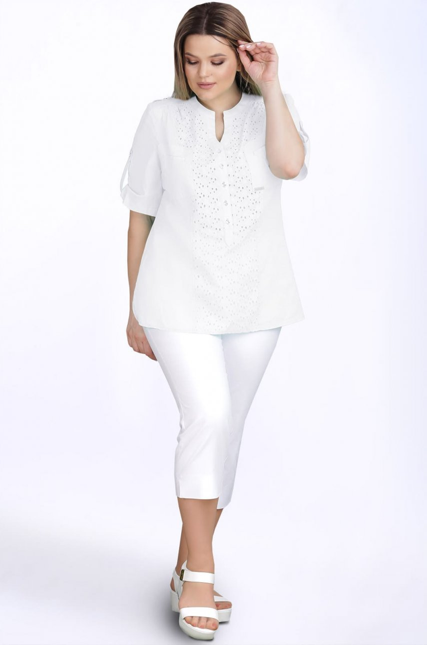 Блуза LeNata 12895 белый