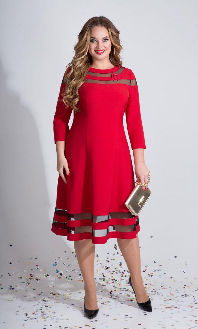 Платье Liliana 789 красное