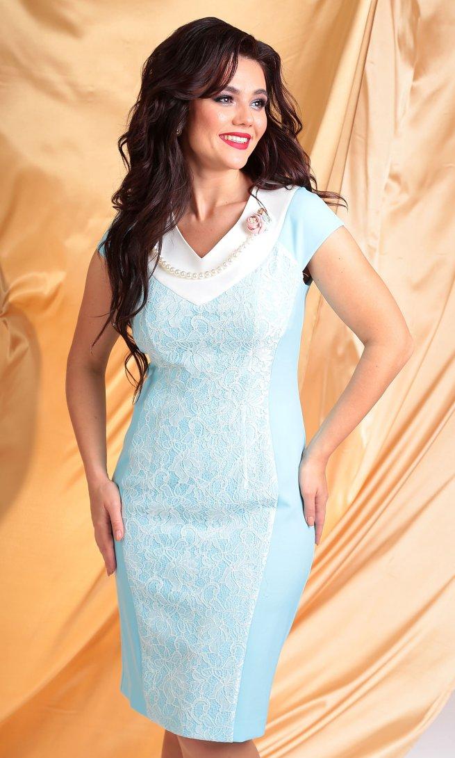 Платье Мода Юрс 1923 голубое