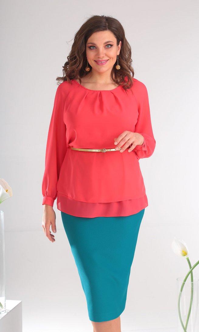 Блуза Мода Юрс 2359 коралл