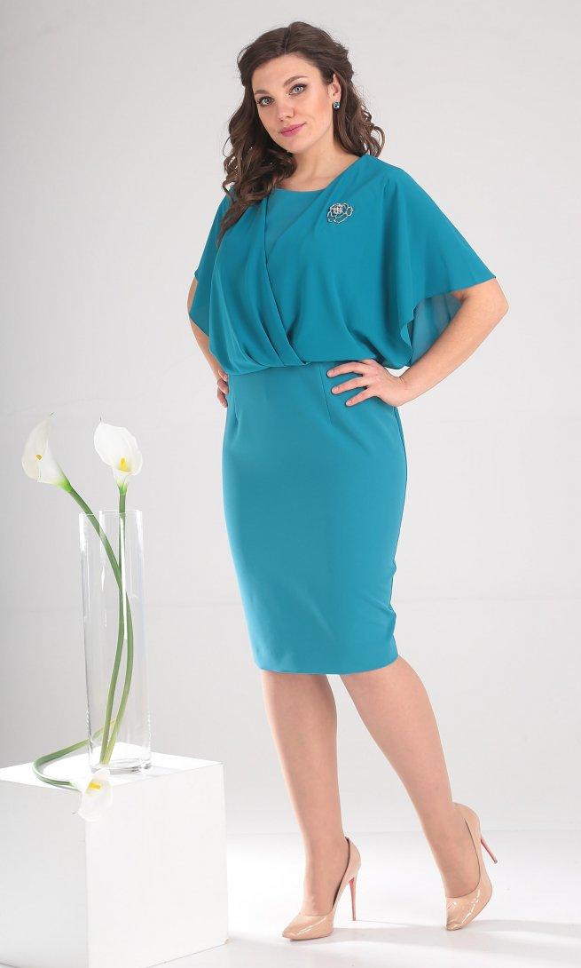 Платье Мода Юрс 2379 бирюза